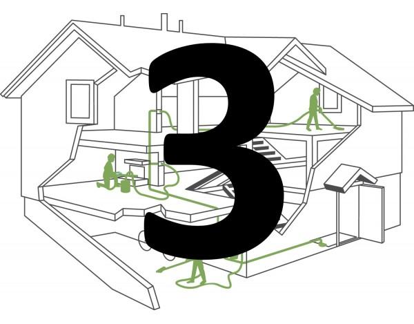 Montaż instalacji centralnego odkurzacza – 2 gniazda