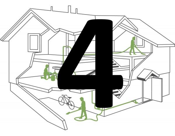 Montaż instalacji centralnego odkurzacza – 3 gniazda