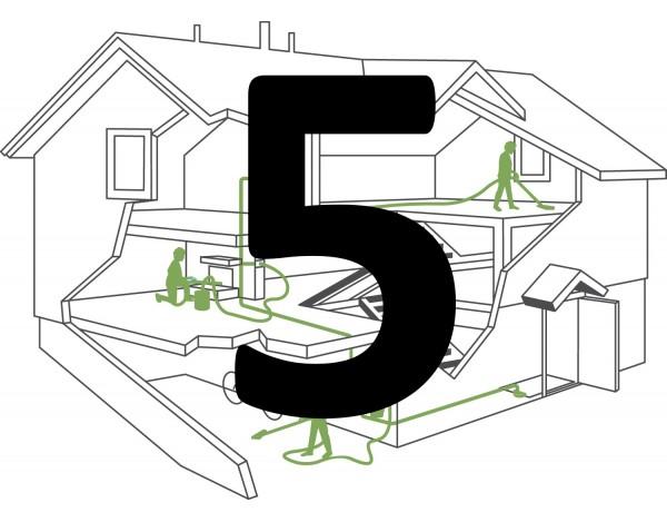 Montaż instalacji centralnego odkurzacza – 4 gniazda