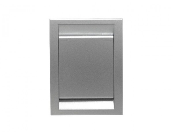 Gniazdo plastikowe DECO, srebrny