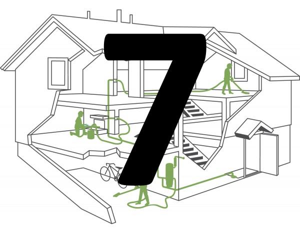 Montaż instalacji centralnego odkurzacza – 5 gniazda